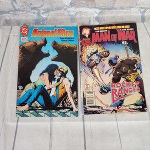 Vintage Comics DC Animal Man Malibu Man of War